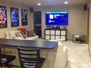 Finished basement by Mischler and Sons Construction