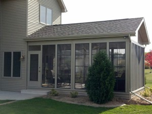 Sunroom addition to the back of a home