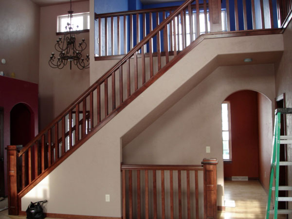 Finish carpentry by Mischler and Sons - custom staircase and railing