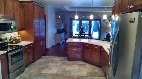 Finished kitchen of a new home construction