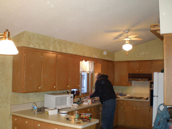 Outdated kitchen to be renovated